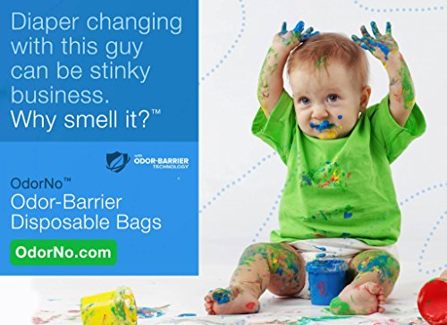OdorNo Odor Barrier Eco-Friendly 2 Gallon Disposable Bag for Infant Waste (20 Count Box)