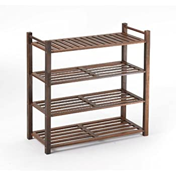 Merry Products SLF0010110000 4 Tier Outdoor Shoe Rack