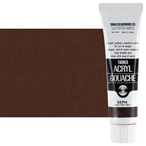Turner Colour Works Acryl Gouache Artist Acrylic Paint - Single 40 ml Tube - Sepia ()