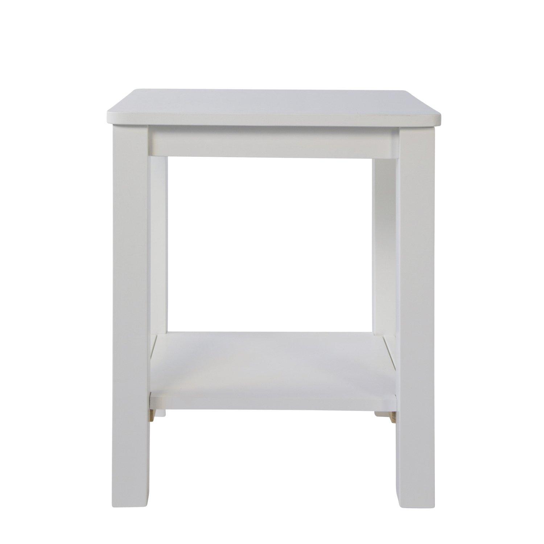 Homestyle4u 1827 Nachttisch Weiß Beistelltisch Holz Kiefer Mit 2