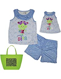 Little Girls' Daddy's Little Diva Pajamas, Doll Gown and Tote Gift Set