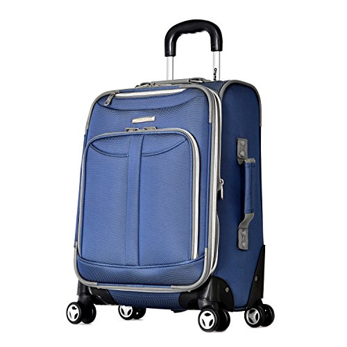 Olympia Carry-On, Denim Blue (Olympia 21 Inch Spinner Carry On Suitcase)
