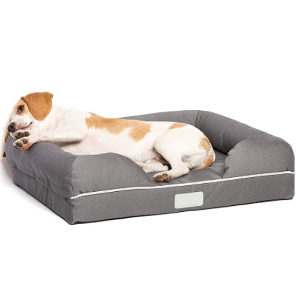 Dog Bed, Orthopedic Memory Foam with Waterproof Liner for Cat or Puppy
