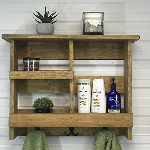 Amazon.com: Bathroom shelf, rustic bathroom shelf, bathroom ...