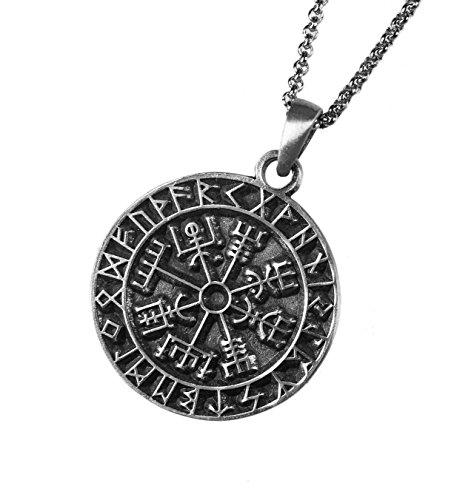 Pewter Fashion Jewelry - Exoticdream Talisman Key of Solomon Seal Hermetic Enochian Kabbalah Compass Jewelry Pewter Pendant (24