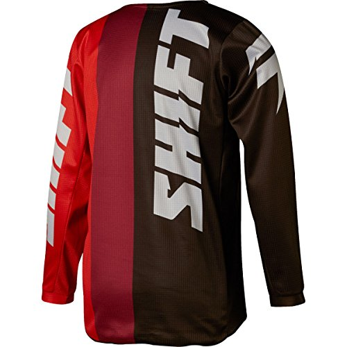 Shift 2018 Youth White Label Tarmac Jersey-Black/Red-YXL by Shift (Image #1)