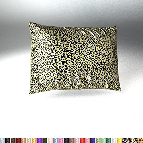 Dreams Print Sweet (Sweet Dreams Luxury Satin Pillowcase with Zipper, Standard Size, Jaguar Print (Silky Satin Pillow Case for Hair) By Shop Bedding)