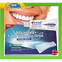 Crest 3D Brilliance Whitening Toothpaste & 28 Advanced Plus Teeth Strips Professional Whitening