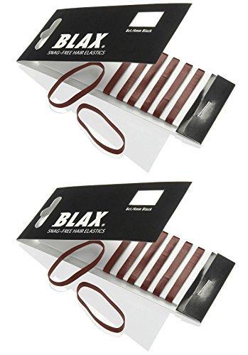 Blax BROWN Hair Elastics 4mm, 8 count (2-pack)