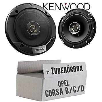 16cm 2-Wege Koax Auto Einbauzubeh/ör Lautsprecher Boxen Kenwood KFC-S1676EX JUST SOUND best choice for caraudio Einbauset f/ür Opel Corsa B//C//D