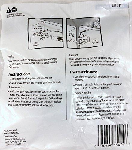 Amazon com: Everbilt Zinc-Plated Gate Latch: Home Improvement