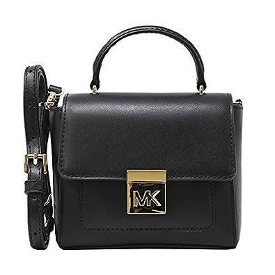 32936850e7f9fc Amazon.com: Michael Kors Mindy MD Satchel Leather Black (35T8GTZS6L): Shoes