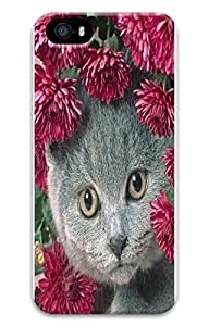Brian For SamSung Galaxy S4 Phone Case Cover - Fashion Style Cat With Daisy 3D PC Hard For SamSung Galaxy S4 Phone Case Cover Kimberly Kurzendoerfer
