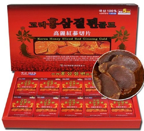 Korean Red Ginseng Root Slices 200g / 7oz (10ea X 20g) Saponin Panax ()