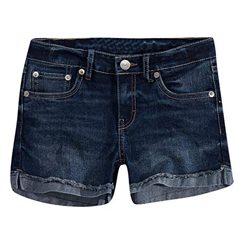Levi's Girls' Big Denim Shorty Shorts, Atomic 14
