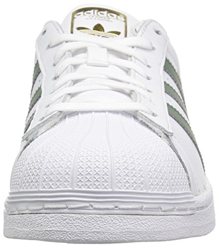 adidas Originals Herren Superstar Foundation Casual Sneaker Weiß / Spuren Grün / Gold Metallic