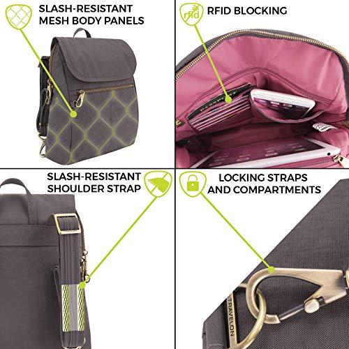 510xsjP3S7L - Travelon Anti-theft Signature Slim Backpack, Black