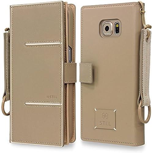 Galaxy S7 Case, Fashion Case STIL [AGNES] [PAVIS Series] BEIGE Leather Case / Card Slots / Wallet Case Sales