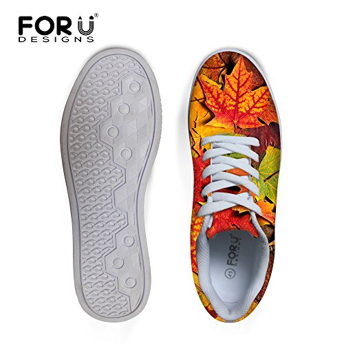 Casual Lace Leaves 4 up U Comfortable Graffiti Top Men's MaLow Shoes DESIGNS Sneaker Skateboard FOR qEHxfnTw