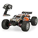 JTT-TOYS RC Car - All Terrain Remote Control Car FY-10 40km h 1 12 Scale Waterproof Off-Road 2.4GHz Radio RC 4WD High Speed Truck - Orange