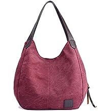 Black Sales Friday Cyber Sales Monday Sales & Deals Week 2018-Women's Casual Cotton Canvas Handbags Shoulder Bags Totes