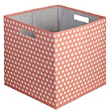 b+in Full Bin Fabric, Coral, 4 Piece