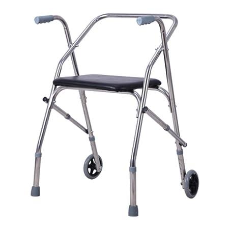 Andador Plegable con Ruedas Y Asiento para Discapacitados para ...