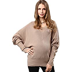 Organic Cotton Dolman Knit Maternity Sweater
