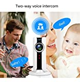 OMZBM 180 Degree Panoramic Fisheye Lens VR Surveillance Camera 1080P HD Mini Wireless WIFI IP Cam Night Vision Motion Detection Intercom Nanny Monitor System