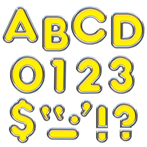 "TREND enterprises, Inc. Yellow 4"" Colorful Chrome UC Ready Letters -  T-79052"