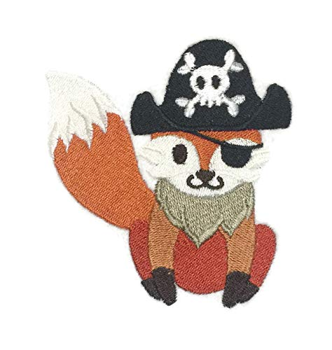 Nature Weaved in Threads, Amazing Baby Animal Kingdom [ Foxy Pirate ] [Custom and Unique] Embroidered Iron on/Sew Patch[3.66