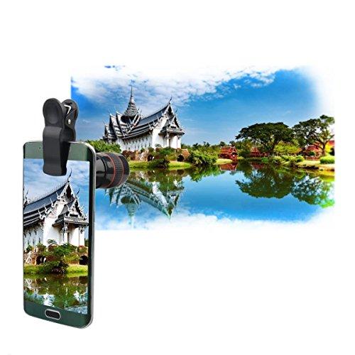 ONX3 Acer Liquid E3 / Liquid E3 Duo (Black 8x Zoom) Universal Clip-on 8x Zoom Optical Telescope Manual Focus Phone Camera Lens by ONX3® (Image #4)