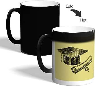 Graduation Day Logo Printed Magic Coffee Mug, Black