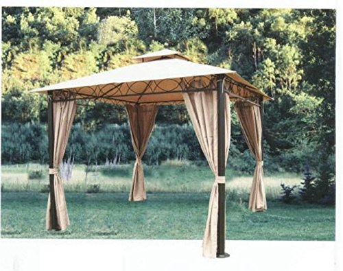 Replacement Gazebo Cover With Polyvinyl Chloride PVC Coating 3 X
