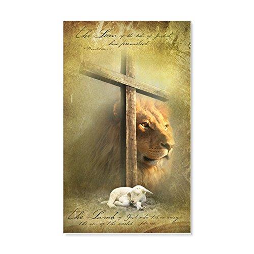 Cheap  CafePress Lion Of Judah, Lamb Of God - 20x12 Wall Decal, Vinyl..