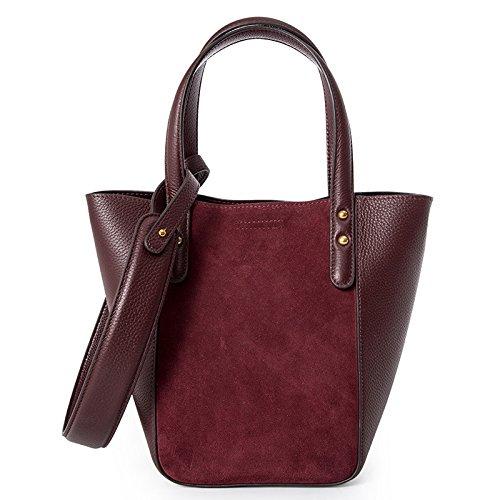 Shopping Bags Burgundy Large Shoulder Elegant Ladies Bag Shoulder Trip Luxury Capacity gYSnA5q