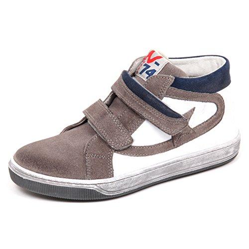 E2542 Vintage Sneaker Shoe Boy blu Grigio Bimbo Scarpe Effetto Kid Naturino d0qwxUd