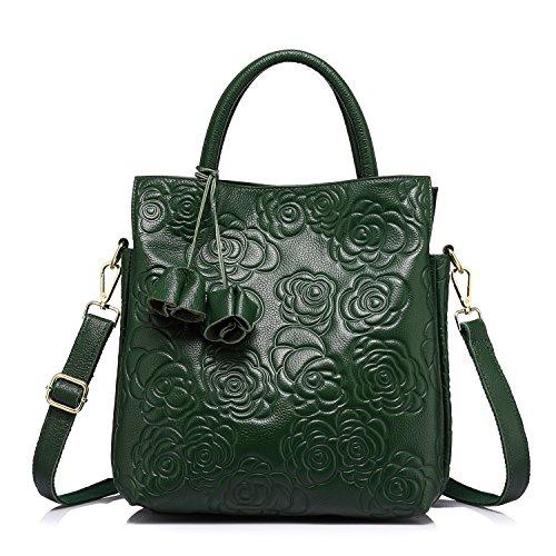 Green Leather Handbag - 9