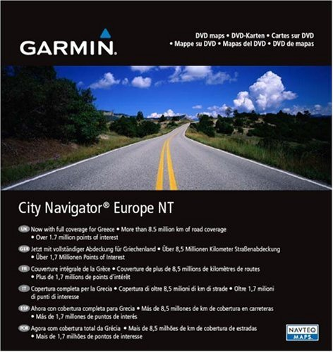 Garmin City Navigator Europe NT for Detailed Maps of Eastern and Western Europe (DVD) (Mapsource Europe City Navigator Dvd)