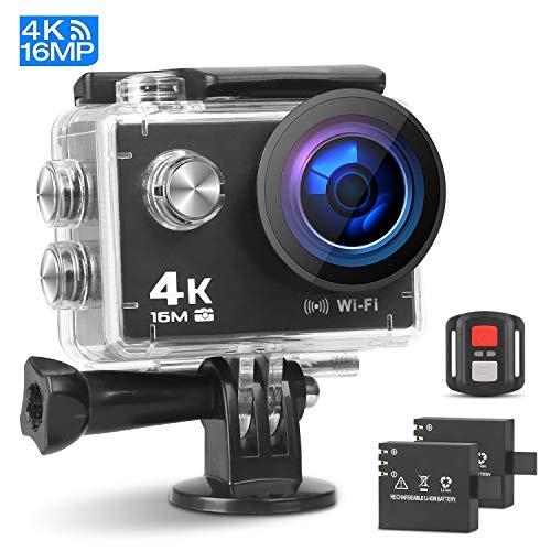 Prymax 4K Action Camera, 16MP WiFi Ultra HD Anti-Shake 30M Underwater Waterproof Camera Sports...