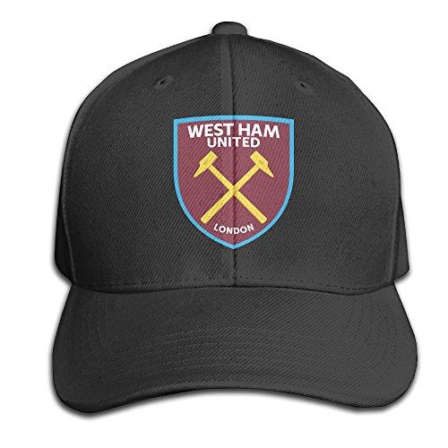 BanBang West Ham United Football Club Adjustable Peaked Baseball Caps Hats For (West Ham United Football Club)