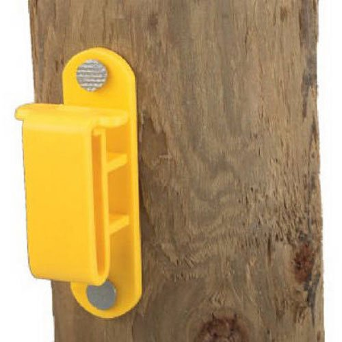 DARE PRODUCTS 2330-25 Yellow Wood Post Tape Insulator (25 Count)