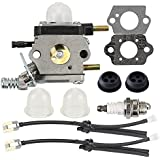 Butom Carburetor with Fuel Line Kit for Echo TC-210 TC-210i TC-2100 LHD-1700 HC-1500 Mantis Tiller 7222 7222E 7222M 7225 7230 7234 7240 7920 7924 Cultivator C1U-K54A C1U-K17
