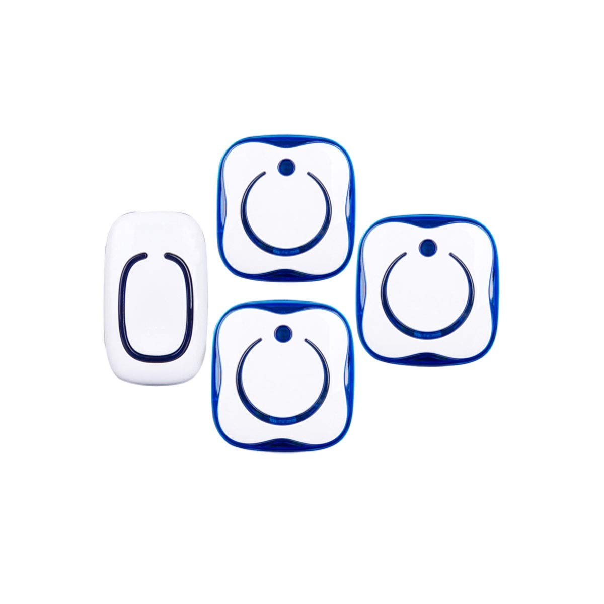 One drag three Yougou01 Doorbell, Wireless Home Super Long Doorbell, Plastic Material, Good Waterproof Quality (white) (Edition   One drag three)