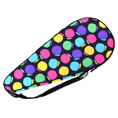 HALKARIN'S Co.,Ltd. Full Size Tennis Racquet Cover, Hard Type, TNS-RCH AP01, Colorful Apple