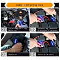 Qewmsg 12V 82800mAh Portable Car Jump Starter with Built-in Air Compressor USB Output