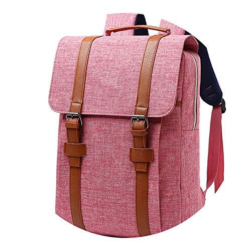 2018 Vintage Men Women Canvas Backpacks School Bags Boys Girls Large Capacity Laptop Backpack,04