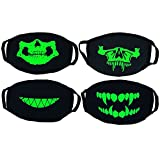 Anti Dust Mask 4 PCS Unisex Fashion Cool Cotton Breathable Luminous Anti-dust Half Face Cover Mask Warm Mouth Mask for Traveling Cycling Shopping-Elisona