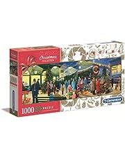 Clementoni 39577 Panorama Christmas Santa, 1000 stukjes, Kerstmis, Panorama Made in Italy, puzzel voor volwassenen, meerkleurig