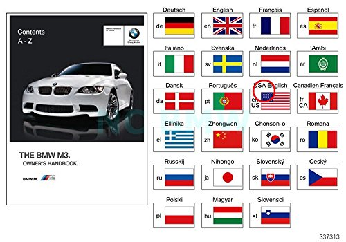 BMW Genuine Owners Manual For E92 E93 M3 W. - Manual Bmw M3 Owners